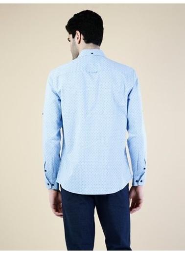 Colin's Puantiyeli Gömlek Mavi